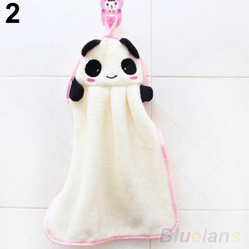 Nursery Hand Towel Soft Plush Fabric Cartoon Animal Hanging Wipe Bathing Towel 1QDU 32MO