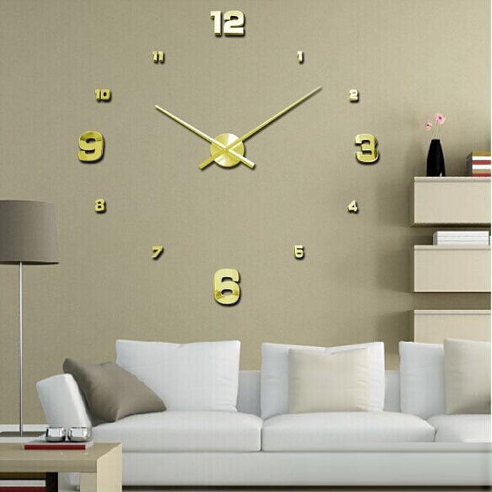 Vovotrade Luxury 3D DIY Large Wall Clock Mirror Surface Sticker Home Office Decor(China (Mainland))