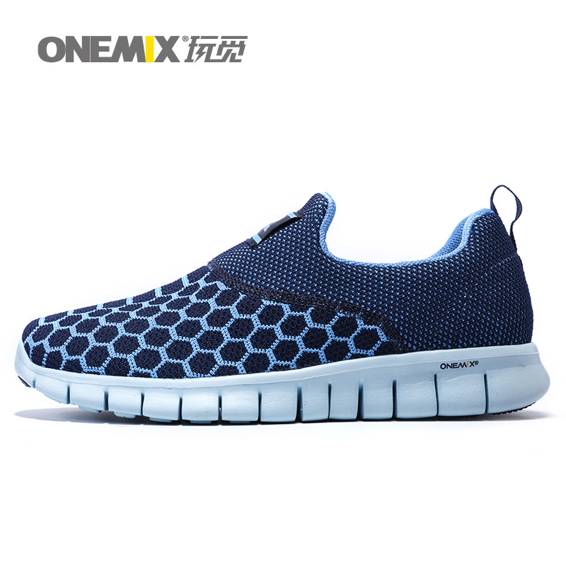ONEMIX Man Running Shoes For Men Breathable Athletic Trainers Black Zapatillas Sports Shoe Outdoor Walking Sneakers Free Ship