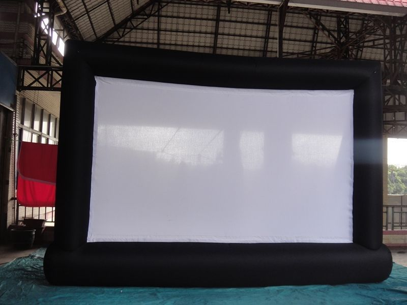 8*5m Giant Inflatable Movie Screen, Outdoor Inflatable Screen With 2 Blowers(China (Mainland))