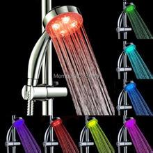 Excelente mano 7 Color LED luz romántica baño de agua inicio baño ducha jefe Glow Cooseela envío gratis(China (Mainland))