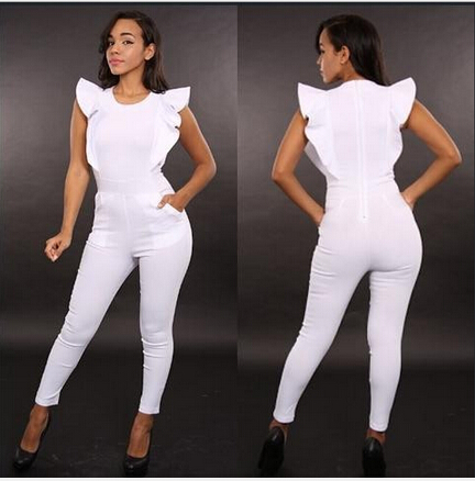 Collection White Jumpsuits And Rompers For Women Pictures - Reikian