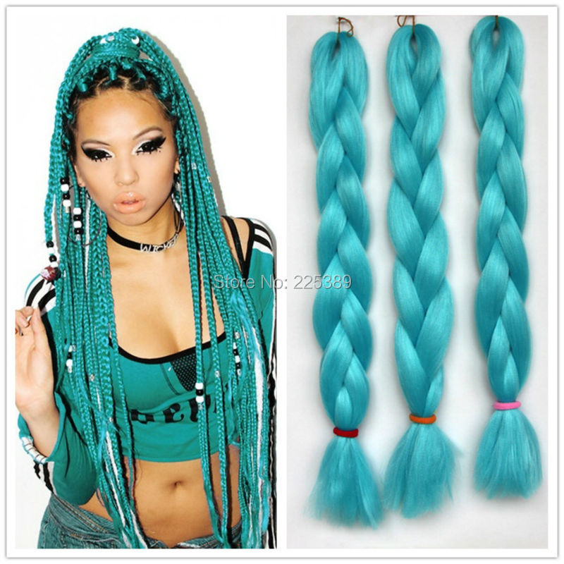 100g Kanekalon Jumbo Braiding Hair For Dreadlocks Crochet Jumbo Box ...