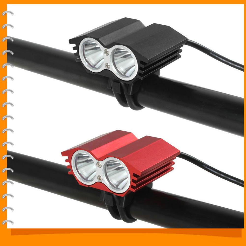 USB Power Port LED Bike Light Super Bright 2000Lm 4 Modes 2 x Cree XML T6 LED Bicycle Light Lamp ( Red / Black )(China (Mainland))