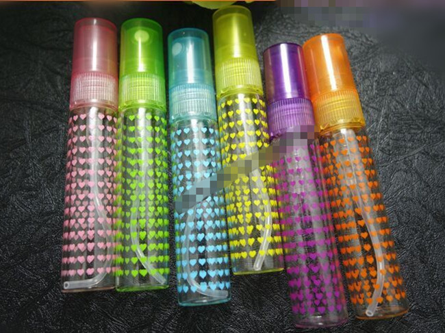 30pc/lot 5ml glass spray bottle with plastic sprayer 5ml glass vial 5cc sample perfume glass bottles(China (Mainland))