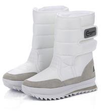2017 Regalos de Navidad de Invierno Mujeres Mans Botas Botas Zapatos de la Nieve para Santa Claus Nieve Blanca Color Plus Tamaño EE.UU. Hot. ZYMY-xz-29(China (Mainland))