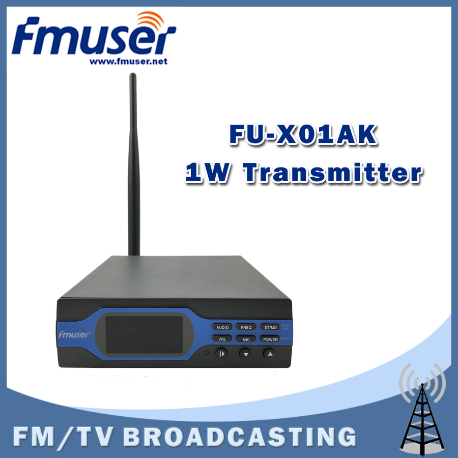 Free Shipping FMUSER FU-X01AK New 1W FM broadcast Transmitter FM radio broadcaster+Antenna Accessories(China (Mainland))