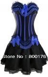 Free shiping walsonstyles 8068-066 long skirt Burlesque Corset & tutu Fancy dress costume Can Can outfit instyles(China (Mainland))