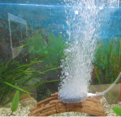 8cm aquarium fish tank pond round air bubble disk air for Koi pond bubble