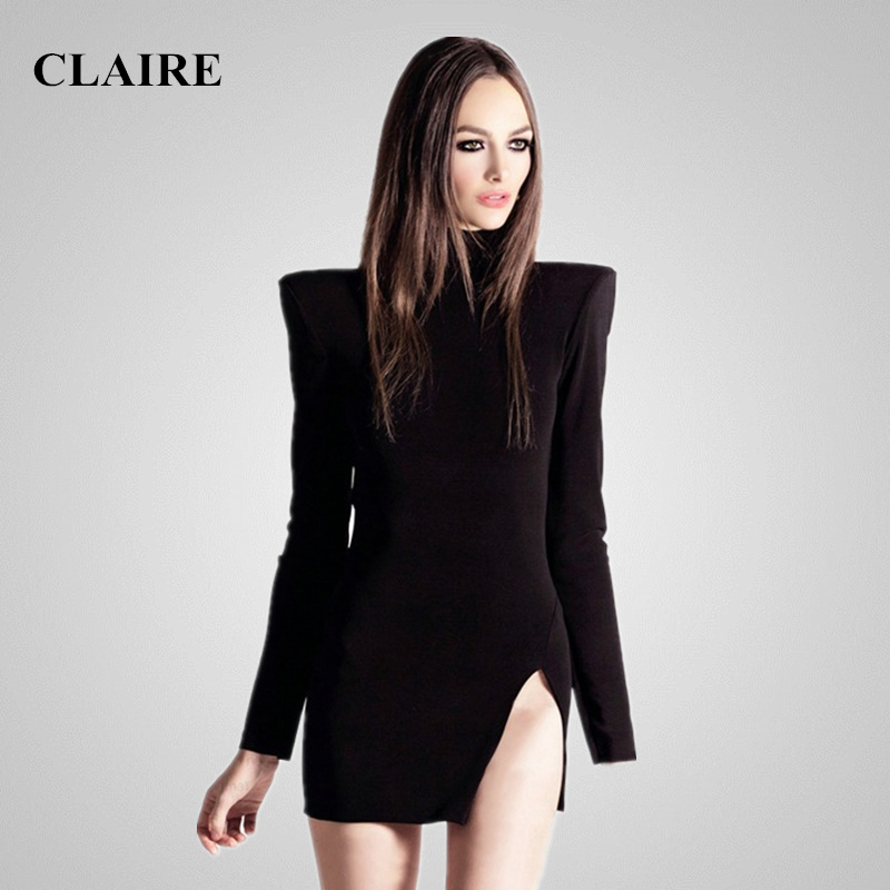 Claire Sunshine 2016 Summer Black Long Sleeve O Neck Mini Sexy Women Party Runway Dress HL Bandage Dresses CS1713Одежда и ак�е��уары<br><br><br>Aliexpress
