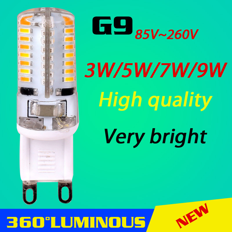 High Qualtiy SMD3014 3W 5W 7W 9W G9 LED bulb 110V 220V Replace 30W halogen lamp 360 Beam Angle LED Bulb Lamps Free Shipping(China (Mainland))