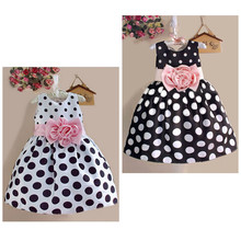New Toddler Baby girl Dot Printing Princess Dress Baby Flower Girl Sleeveless Party Dress Dot Gown Fancy Dresses Summer Sundress