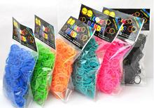 600pcs Package Rubber Band 16 colors Loom Bands Girls DIY Bracelet Opp Bag(China (Mainland))