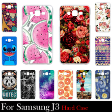 For Samsung Galaxy J3 Case Hard Plastic Mobile Phone Cover Case DIY Color Paitn Cellphone Bag Shell  Shipping Free