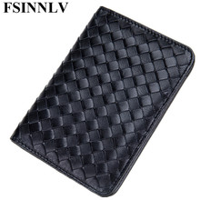 Buy FSINNLV Genuine Leather Unisex ID Card Holder Passport Card Wallet Credit Card Business Card Holder Protector Organizer DC173 for $18.84 in AliExpress store