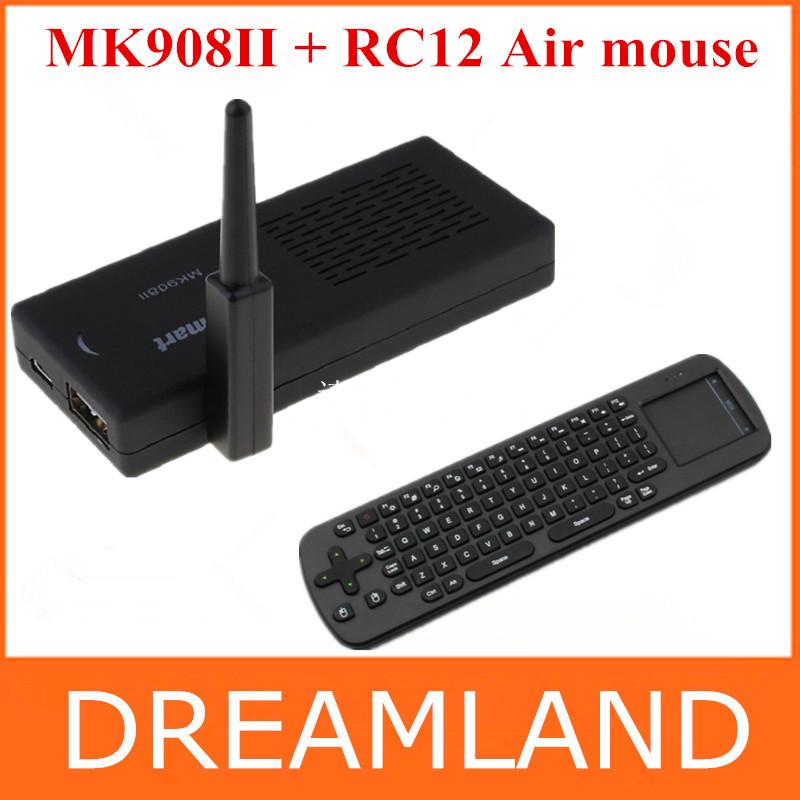 WiFi Antenna Tronsmart MK908II RK3188 Quad Core Android 4.2 Mini TV Box HDMI PC Stick Dongle 2GB RAM HD MK908 II +RC12 keyboard(China (Mainland))