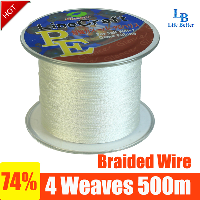 linha pesca multifilamento 500m braided line fishing line carbon fishing line fluorocarbon stainless steel fishing line10-100LB(China (Mainland))