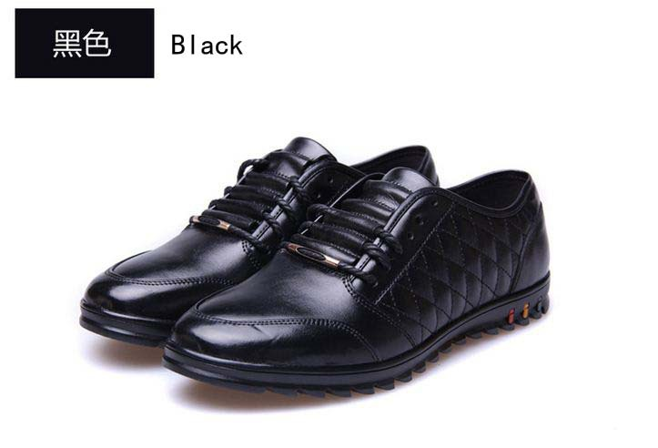 2015 New Men's Fashion Shoes Business Shoes Flats Men's PU Leather shoes Dress shoes BLACK Brown ,Size:38-43 Free Shipping,XP55(China (Mainland))