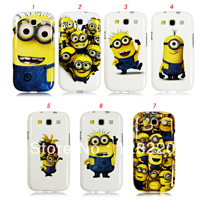 Soft cover case Galaxy SIII cute Despicable Yellow Minions picture samsung galaxy s3 i9300 DHL - Special Zone Trading Co.,Ltd store