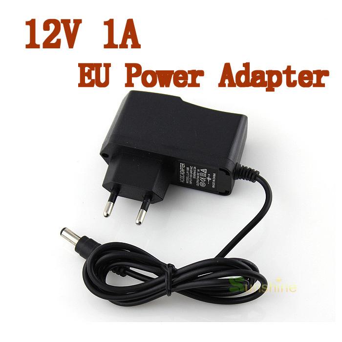 Good Quality 5.5mm x 2.1mm DC 12V 1A EU Plug Power Supply Adapter For CCTV Camera(China (Mainland))