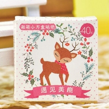 40 pcs/pack Cute Forest Deer Diary Label Stickers Pack Decorative Mobile Stickers Scrapbooking DIY Stickers H0063