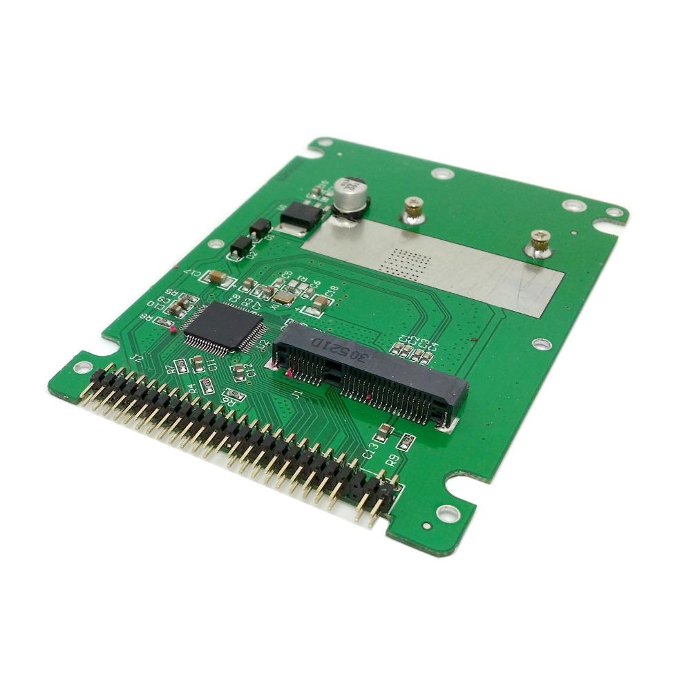 mSATA mini PCI-E SATA SSD to 2.5 inch IDE 44pin Notebook Laptop hard disk case Enclosure White(China (Mainland))