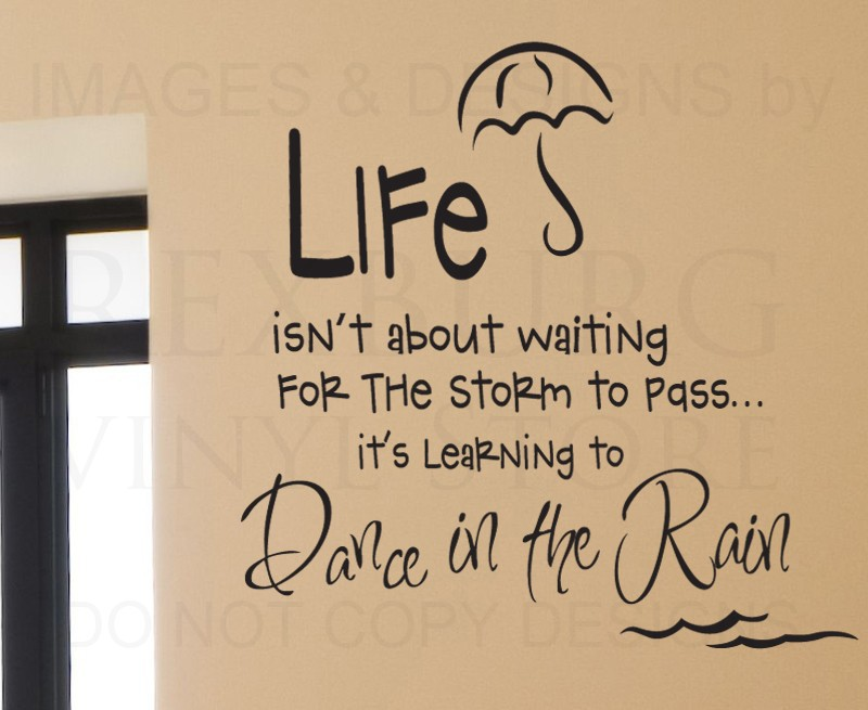 Wall Art Quotes Dance In The Rain : Cacar home wall decal quote sticker vinyl art removable