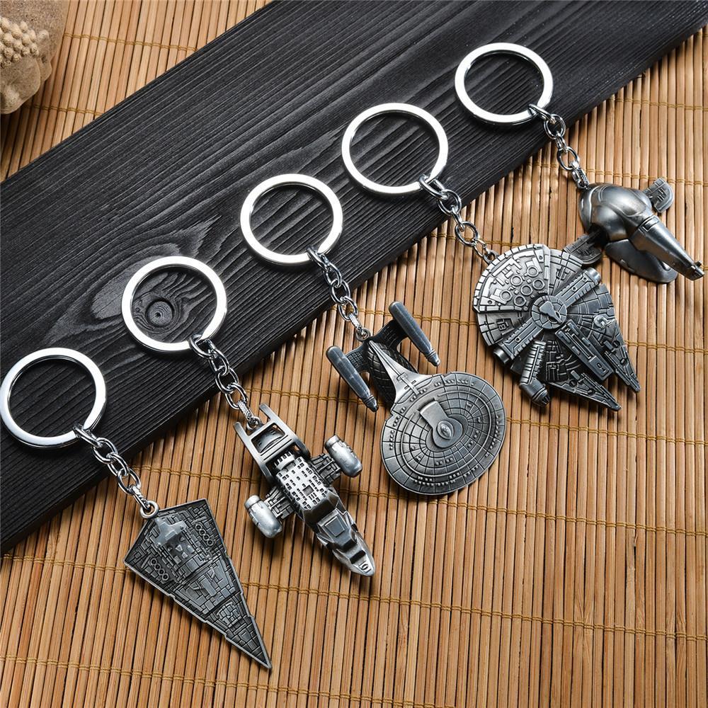 Star Wars Space Ship Model Keychain Metal Key Chain Pendant Keyring Key Ring For Men Women KT1013(China (Mainland))