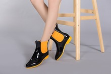 Spring winter boots brand design ankle boots women rain boots elastic shoes woman solid rubber waterproof shoes botas 36-41(China (Mainland))