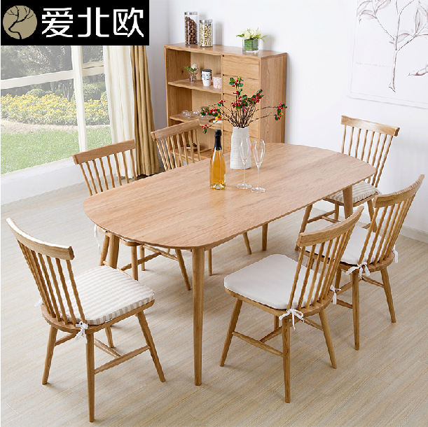 Solid Wood Dining Table And Chairs Rectangle White Dining Table