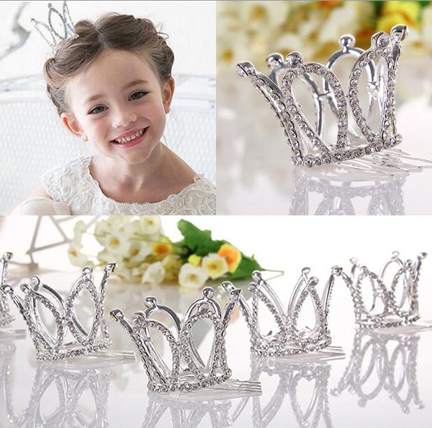 Kids Girls Glitter Crystal Rhinestone Twinkle Princess Crown Tiara Flower Girl Wedding Birthday Prom Hair Accessories(China (Mainland))