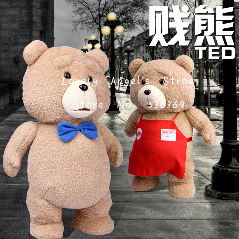 Toys For Ted : Free shipping pcs cm lovely plush blue tie teddy bear