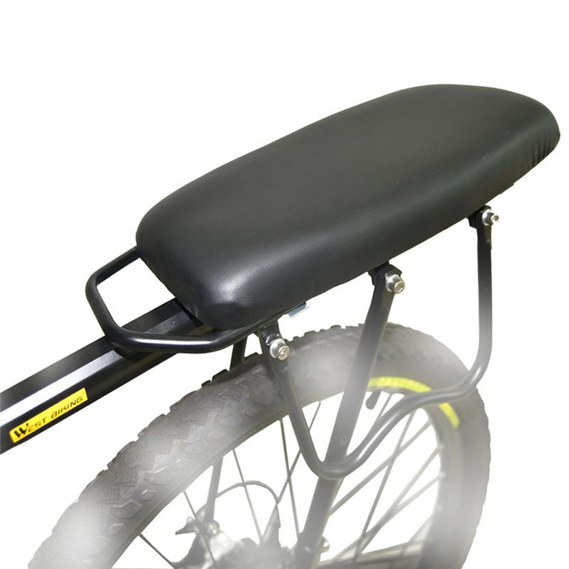 Bike Outdoor MTB Road Alloy Shelf Cycling Load 50Kg High-strength Disc Brake/V-brake Bicycle Rear Rack + Back Carrier Pad Set(China (Mainland))