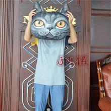 3D Gag Toys Animal Head Doll Cute Dog Plush Toys Plush Doll Cartoon Pillow Cushion Cat Nap Chair Pillow Practical Jokes Gift(China (Mainland))