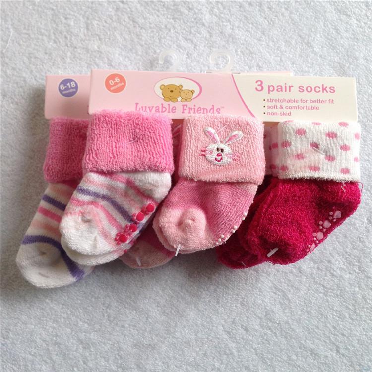 Luvable друзья 3шт / много прекрасный зима младенцы носки для младенцы возчиков девочка дети аксессуары родился носки Meias Bebe
