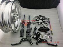 RRGS  low down front brake kits with 12*3 monkey wheel with a cnc hub and a pair of mc  for zoomer ruckus NO3(China (Mainland))