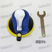 """Promotion for store sales volume Pneumatic air sander 5"""" wax polishing automotive tool round gifts contained(China (Mainland))"""