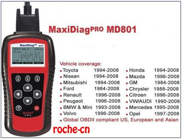 2014 Top quality 4 in 1 code scanner(JP701+EU702+US703+FR704) Autel MD801 Pro MaxiDiag PRO MD 801--(1)