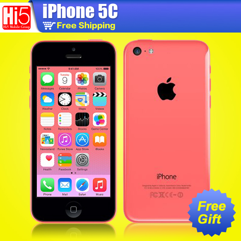 "Original Apple iPhone 5c Unlocked 32GB+1GB Storage GSM HSDPA Dual Core 8MPix Camera 4.0"" Screen Cellphone(China (Mainland))"