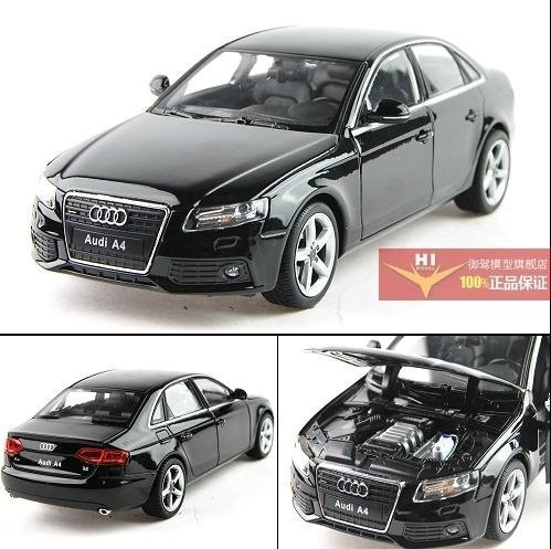 NEW 1:24 AUDI A4 Alloy Diecast Car Model Toy Collection With Box Black B1558(China (Mainland))