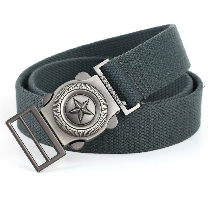 [LCY] Western Designer Men Fashion Casual Canvas Belt High Quality Knitted Metal Buckle Military Outdoor Belts For Men LB092(China (Mainland))