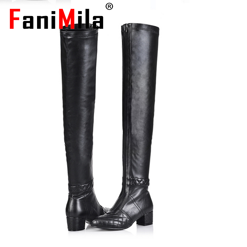 Free shipping over knee natrual genuine leather high heel boots women snow warm boot shoes R4912 EUR size 33-43(China (Mainland))