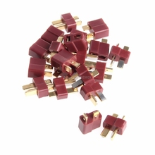 Buy 10 Pairs T Plug Male & Female Deans Connectors Style RC LiPo Battery New -B116 for $1.40 in AliExpress store