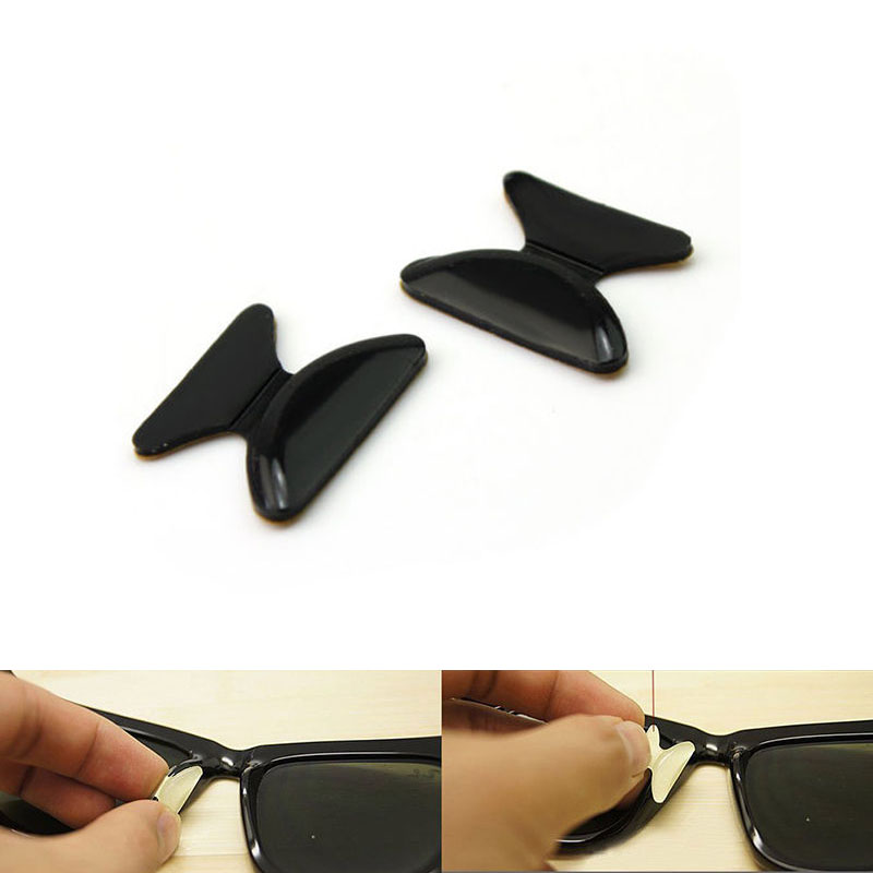 1 Pack of 5 Pairs Anti-Slip Silicone Nose Pads for Eyeglass Sunglass Glasses Spectacles(China (Mainland))