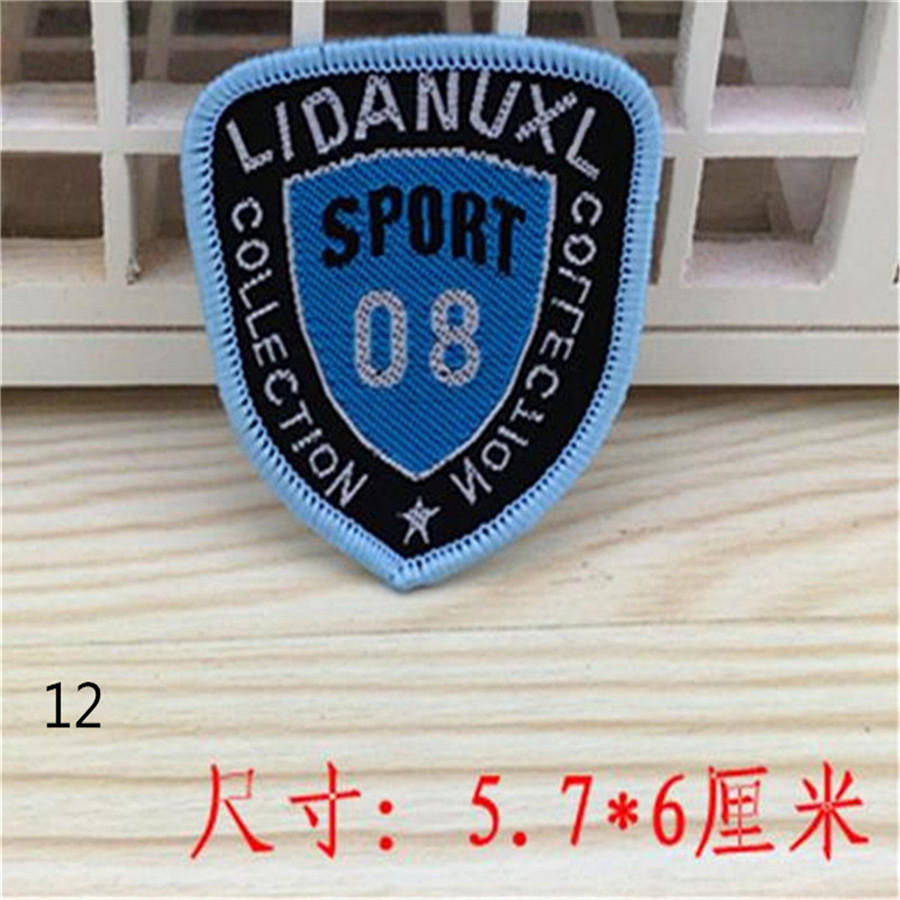 Kids clothes Apparel Sewing Patches For boys clothes & girls clothes Cute Patch Fashion Blue Badge Sport FCB Logo Free Shipping(China (Mainland))