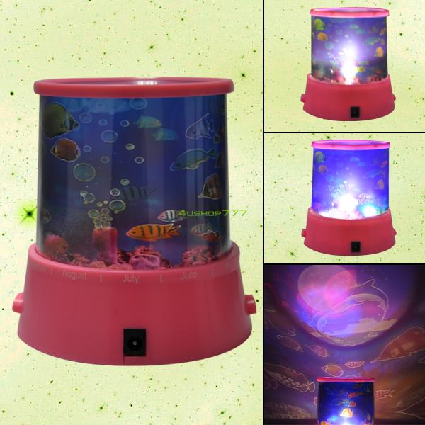 EG0653 Ocean Fish LED Night Star Master Projector Colors Lamp Light Kid Holiday Gift(China (Mainland))