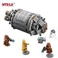 MTELE Brand Star Wars Droid Escape Pod With C 3PO R2D2 Building Blocks 75136 figure The