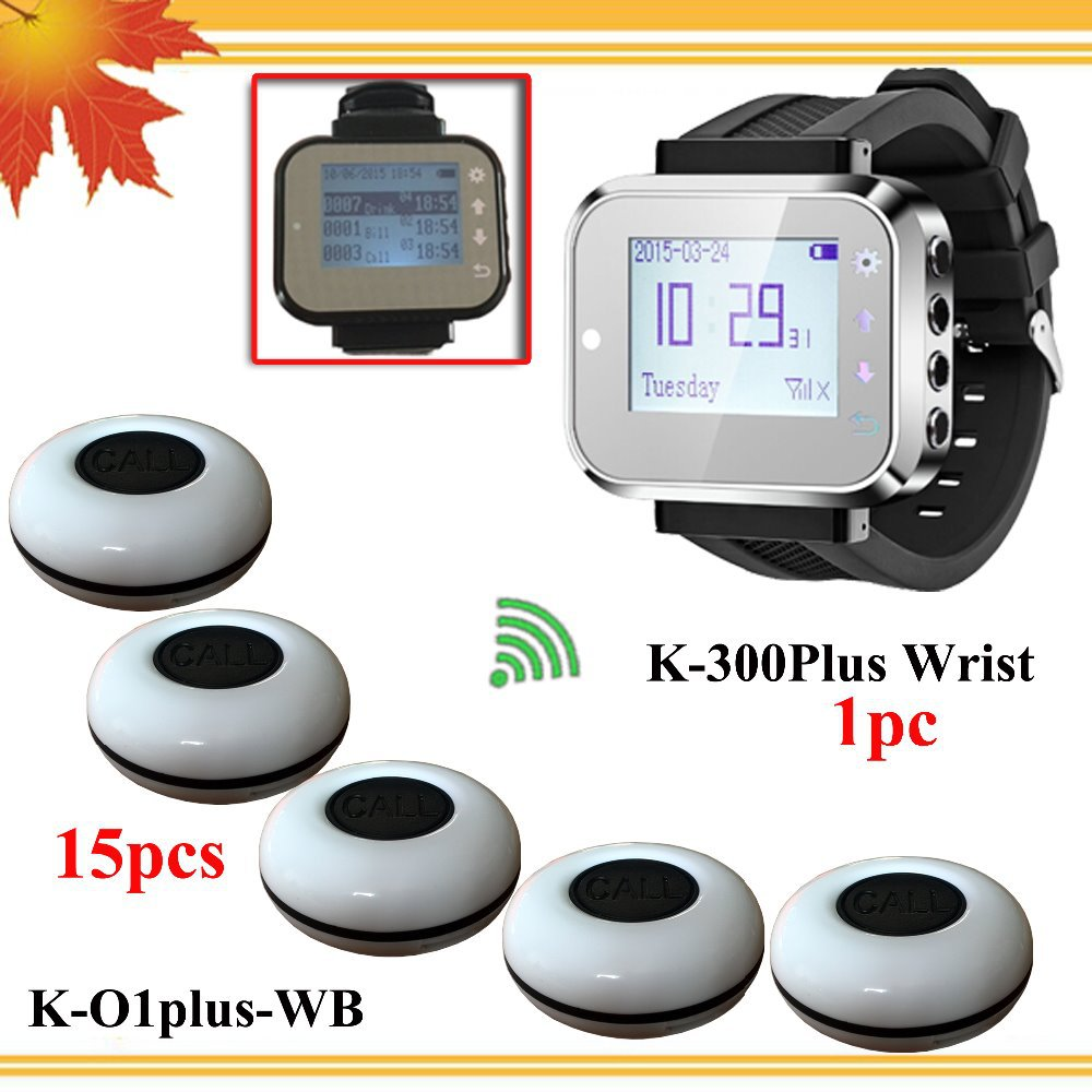 Waiter Wrist Pagers Service Calling System for hospital restaurant calling service Wireless Calling launch button Free shipping(China (Mainland))