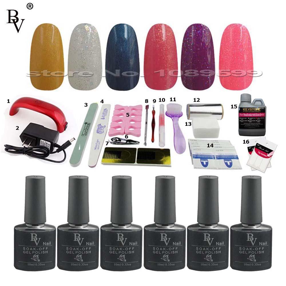 6pcs BV Soak-off Color Gel Nail Polish UV Gel Polish NEWEST nail glue varnish lacquer nails gel professional NEWEST #193-198(China (Mainland))