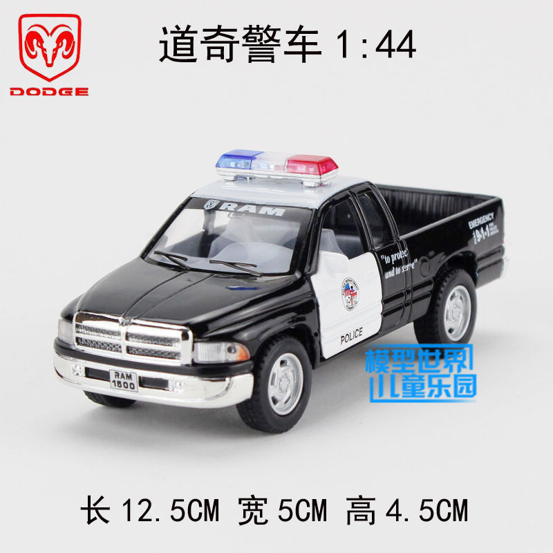 Soft world alloy car model toy dodge pickup police car truck WARRIOR open the door toy cars toys for children car styling(China (Mainland))